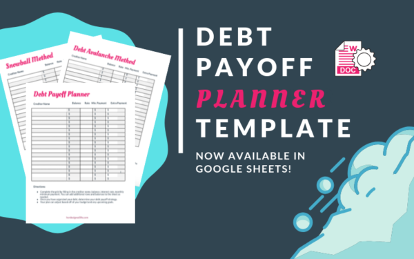 Debt Avalanche and Debt Snowball Payoff Planner Template